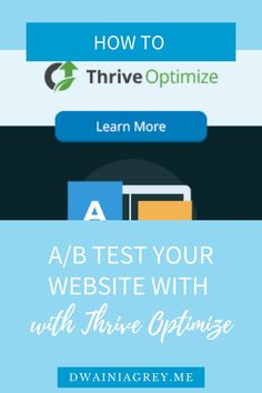 How can you ensure you are creating the best pages for conversion? Easily conduct A/B testing with the Thrive Optimize WordPress plugin. #thrivethemes #thrivesuite #thriveoptimize Email Marketing, Affiliate Marketing, Social Media Marketing, Digital Marketing, Business Website, Online Business, Money Making Websites, Help Teaching, Blogger Tips