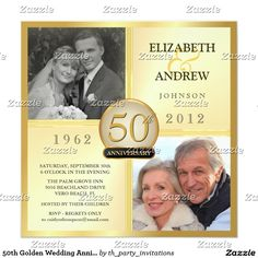 photo personalised 50th magnificent 50th wedding anniversary, Wedding invitations