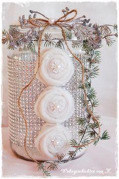 DIY-Windlicht Weihnachtsdeko Shabby Chic,  Shop: Wohngeschichten von K.
