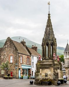 Pretty village of Falkland in Fife, Scotland. Land of hubs father!