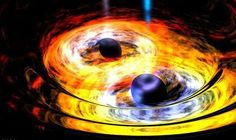 The Milky Way may have 2 supermassive black holes. Based on measurements of stars orbiting our galaxy's core researchers think our black hole Sagittarius A may have another supermassive companion (of at least 100000 solar masses) lurking nearby. Stephen Hawking, Einstein, Gravitational Waves, Neutron Star, Theory Of Relativity, Partner Dance, Hubble Space Telescope, Carl Sagan, Astrophysics