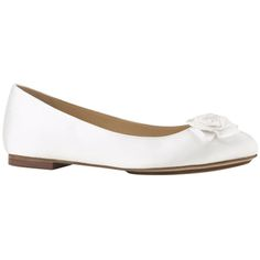 White Italian silk satin Ceci Air Rose Ballet from Cole Haan | www.TheShoeMart.com #DIYShoes #TheShoeMart *This shoe is not advertised as a dye-able. Dye satin shoes at your own risk.