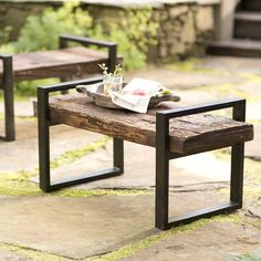 Reclaimed Railroad Tie Bench