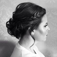 Bun, bridesmaid updo, updo, wedding hair, bride hair, bride, loose bun, bridesmaids hair, bridesmaid, maid of honor hair, hair for weddings, hair by Lyndsay Broellos