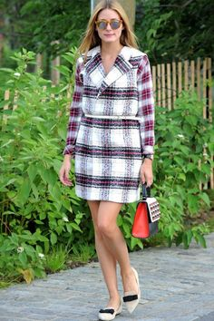 Olivia Palermo Proves Summer Checks Can Be Chic | Marie Claire