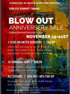 Airbrush Tanning, Anniversary Sale, Cincinnati, Summer, Summer Time