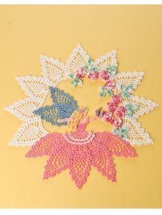 PDF Crochet Pattern Flower Garden Fairy Doily by BellaCrochet Crochet Doily Patterns, Crochet Doilies, Flower Patterns, Pattern Flower, Cotton Crochet, Thread Crochet, Recycled Garden, Flower Garden Design, Fabric Glue