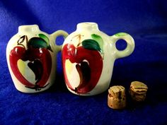 Purinton Pottery Apple Salt & Pepper Shakers from carolines on Ruby Lane