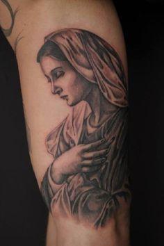virgin mary portrait tattoos pinterest virgin mary portrait tattoos and body art. Black Bedroom Furniture Sets. Home Design Ideas
