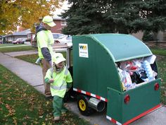 Kids Ride-on Garbage Truck – cardboard cut-out