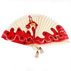 Abanico Diseño Flamenco Fan Decoration, Small World, Beautiful Hands, Decorative Bowls, Decoupage, Pottery, Fancy, Fan Art, Flamenco Dresses