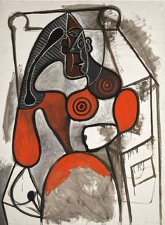 Femme Assise by Pablo Picasso on Widewalls. Browse more artworks by Pablo Picasso and auction records with prices and details of each sale! Pablo Picasso Drawings, Picasso Art, Picasso Paintings, Picasso Images, Cubist Movement, Ballet Russe, Francis Picabia, Spanish Painters, Art Moderne