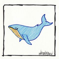 by Whitney Fawn for #30DoC Day 26 - Blue Whale - @createstuff