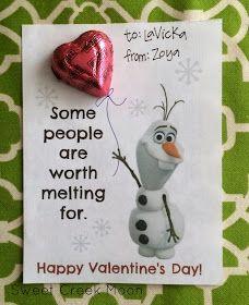 Sweet Creek Moon: Olaf Valentine's Day free printable--Part III