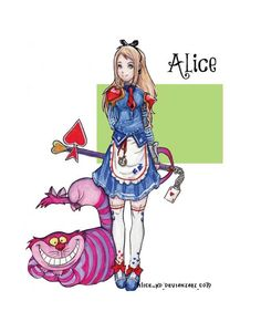 *ALICE and the CHESHIRE CAT ~ Alice in Wonderland