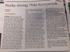 Recensie Thijs Kemperink, zaterdag 18 januari 2014 gezien in Stadstheater de Bond.