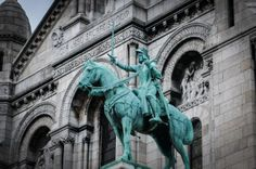 I am sure that there are a great many churches in Paris to see and explore. One is the famous Notre Dame and the other is the Sacré-Coeur… Sculptures, Lion Sculpture, Paris France, Europe, Adventure Travel, Statue, Explore, Art, Sacred Heart