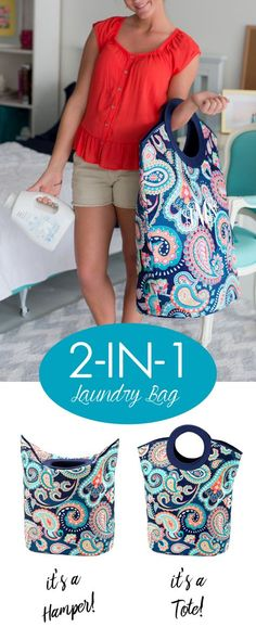 2-in-1 quilted mega laundry totes are such a cute gift idea for baby showers, apartments, and college dorm rooms. These neat, functional soft-sided tote bags are easy-to-carry and can be folded down to create a laundry hamper to store dirty clothes or held upright to be used as a tote bag. Personalize your bag with a monogram for an adorable gift idea. These bags make a great baby nursery decor idea. View these bags here: http://www.tippytoad.com/personalized-mega-laundry-tote-bags.asp