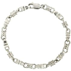 "Sterling Silver Heavy Bullet Chain Bracelet 8 in. (Also Available in 7""), 1/4 in. (6.5mm) wide Sabrina Silver. $199.53"