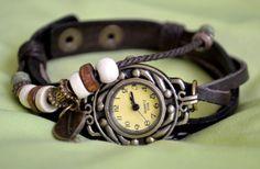 Leder Armbanduhr braun von Zeitsprung auf DaWanda.com