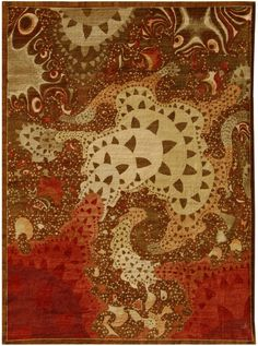 With multiple patterns interacting with each other and the effect of oil on the surface of water playing throughout the top half of the carpet, this carpet shows off intricate details in every shade from cream to a deep crimson. F532-4007