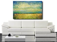 Abstract acrylic painting modern original fine art on canvas
