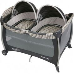 $219 free shipping...The Graco Pack 'n Play Portable playard with Twins Bassinet offers your twins unsurpassed comfort while providing you with unparalleled convenience and style. Removable, quilted mattress pad and bumpers.