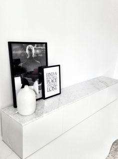 Ikea Besta Storage Unit with Custom Marble Top