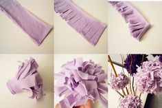 jersey knit flowers; make them out of old shirts instead of taking them to goodwill
