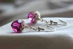 Bridesmaid Earring Package in Swarovski crystal and silver filigree, available in custom colors.