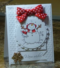 Red & Gold Snowman _pb by peanutbee - Cards and Paper Crafts at Splitcoaststampers