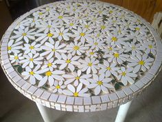 tiled garden tables small mosaic table small mosaic garden table tiled garden tables mosaic table top round marble mosaic tiled garden table and chairs Mosaic Artwork, Mosaic Wall, Mosaic Glass, Mosaic Tiles, Stained Glass, Glass Art, Mosaic Birdbath, Marble Mosaic, Sea Glass