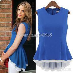 Ladies 2014 Summer Top Brand Blouses, Peplum Blouses Online with ...