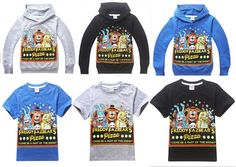 FNAF Kids Boys Girls Five Nights at Freddy's Hoodies Sweatshirts T-Shirts Tops #NWT #DressyEverydayHoliday