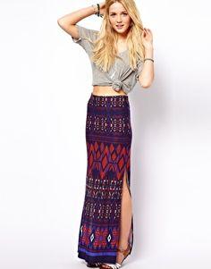 @Shannon Miller  ASOS Maxi Skirt in Aztec Print