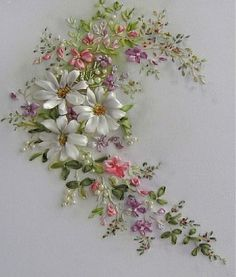 Embroidery ribbons. Artist Laura Korovin