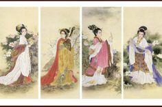 JY: The Four Legendary Beauties of China - Yang Gui Fei, Wang Zhaojun, Diao Chan & Xi Shi