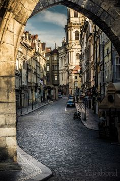Streets of #Prague just like from an old movie. #CzechPragueOut