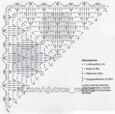 Best 12 As a gift, shawl . All in openwork … (Crochet) & quot; – Home Moms – SkillOfKing. Crochet Leaf Patterns, Crochet Shrug Pattern, Crochet Symbols, Crochet Leaves, Crochet Diagram, Crochet Chart, Filet Crochet, Crochet Motif, Crochet Stitches
