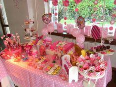 Mesa dulce bautismo o cumpleaños nenas