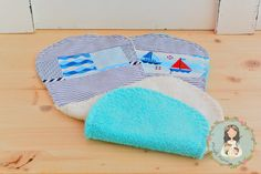Unique set of two burp clothes  baby shower gift  by MainileMamei