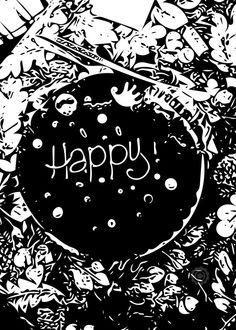 Happy Cake - Digital Download