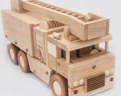 Wooden fire truck
