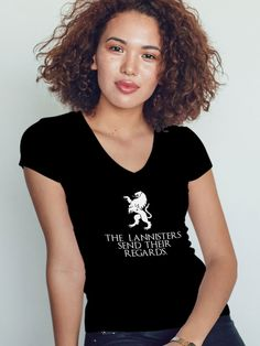 tricou game of thrones, got, lannister send their regards Blond, Game Of Thrones, T Shirts For Women, Entertainment, Tops, Fashion, Moda, Fashion Styles, Fashion Illustrations