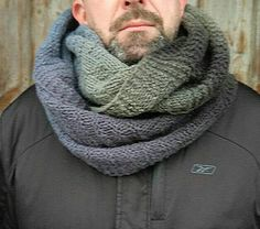 Oversize mens scarf, chunky snood knit, Infinity mens scarf, mens chunky gift, black cowl neck The wool chunky snood was 100% handknitted by my hands from luxury ecological yarn - gradient organic wool 100%. The perfect top for your favorite men, isnt it? You do not know what to