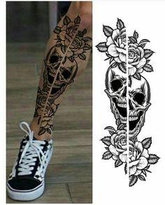 Scary Tattoos, Head Tattoos, Badass Tattoos, Skull Tattoos, Body Art Tattoos, Tattoo Font For Men, Leg Tattoo Men, Arm Tattoos For Guys, Shiva Tattoo Design