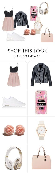 summer outfit inspieried by niki and gabi by sandyshirin on Polyvore featuring Topshop, Neil Barrett, NIKE, MICHAEL Michael Kors, Casetify, women's clothing, women's fashion, women, female and woman