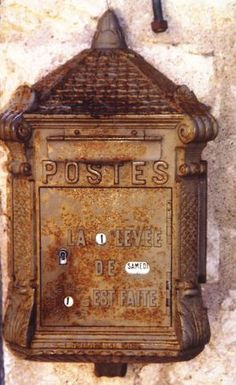 The enchanting dilapidation of old fire call boxes and post boxes...