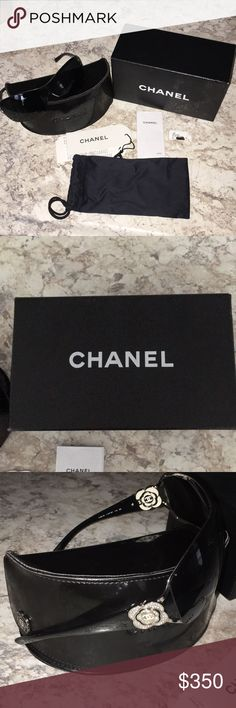 Chanel sunglasses Chanel sunglasses with two cases and original box! In good condition, only worn a few times. Feel free to ask any other questions. CHANEL Accessories Sunglasses