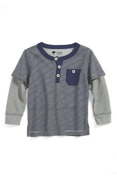 Tucker + Tate 'Parker Road' Layered Sleeve Henley T-Shirt (Baby Boys) available at #Nordstrom